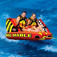 SportsStuff Big Mable Inflatable Water 2 Rider Tube Boat Lounge Towable 53-2213