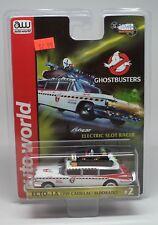 Auto World HO Ghostbusters 1959 Cadillac Eldorado ECTO-1A Silver Screen Slot Car