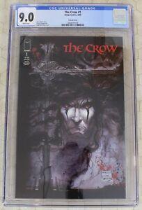 THE CROW  #1 CGC 9.0 VARIANT COVER  (Image Comics)!!