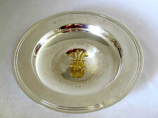 Solido argento -- elemosina Dish -- ROYAL wedding-1981 -- marchiato: - Londra 1981