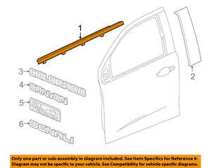 GM OEM-Door Window Sweep-Belt Molding Weatherstrip Right 23217185