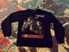"2 PAC ""All Eyez On Me"" Small Crew Neck Sweatshirt 2013 Gangsta Rap Shakur"
