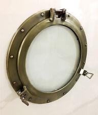 """20"""" Aluminum Porthole Glass Wall Photo Frame Antique Finish Cabin Porthole"""