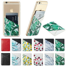 Adhesive Phone Card Holder Wallet Sleeve Case for Samsung Galaxy 11Pro Max XS XR
