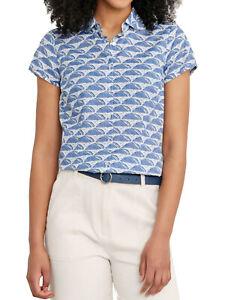 EX SEASALT Island Geo Spring Tide Rushmaker Cotton Voile Shirt in Sizes 8-28