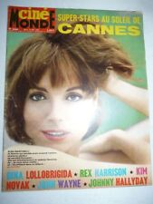Lot N°115 de 9 magazines revues CINEMONDE année 1965