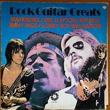 ROCK GUITAR GREATS LP HENDRIX/CLAPTON/Beck/page ex. avec Vinyle tremplin SPS4042