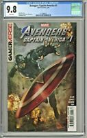 Avengers Captain America #1 CGC 9.8 1st First Print Edition Stonehouse Cover