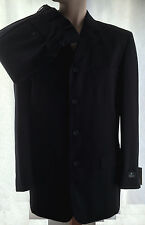 MARCELLOTINO MENS SUIT PURE AUSTRALIAN WOOL PANTS & JACKET NAVY BLUE SIZE 40/102