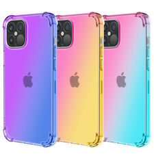For iPhone 12 11 Pro Max XS Max 8 7 Plus 6 Gradient Soft Silicone TPU Case Cover