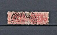 ITALIA REGNO 1914 - pacchi postali Due sezioni, nodo di Savoia  cent.25 usato