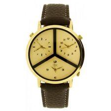 Relojes de pulsera de oro de alarma