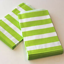 Party Bags Lime Green and White Pk 24