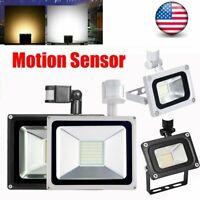 10W 20W 50W PIR Motion Sensor Flood Light Waterproof Outdoor LED Security Lamp