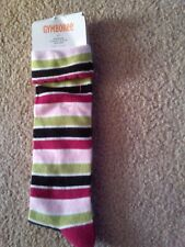 NWT LITTLE GIRLS GYMBOREE KNEE SOCKS STRIPED SIZE 3-4 SHOE SZ 9-10 US