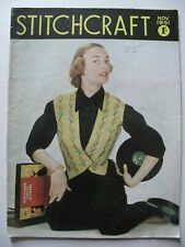STITCHCRAFT November 1951 - Vintage Needlework Magazine