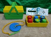 The Sewing Basket Vintage 1970s Childrens Guidance/Learning Toy-Shapes/Buttons