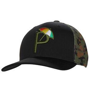 NEW Puma P110 Snapback Puma Black/Arnold Palmer Camo Adjustable Golf Hat/Cap