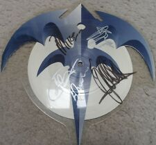 QUEENSRYCHE AUTOGRAPHED JET CITY WOMAN SHAPED picture disc GEOFF TATE + 3