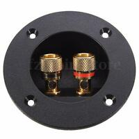 Home Car Stereo 2 Way Speaker Box Terminal Connector Round Spring Cup Subwoofer