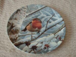 danbury mint plate winter dawn by trevor boyer 20.5 cm wide woodland winter coll