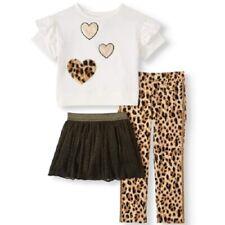 Garanimals Girls Leopard Print/Hearts 3 Piece Outfit Set Size 5
