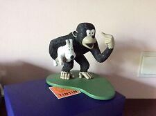 Figurine Tintin Leblon Moulinsart LE SINGE PORTANT MILOU limitée