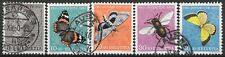 SUISSE : PRO JUVENTUTE PAPILLONS 1950 N° YT 502/506 OBLITERATIONS CHOISIES