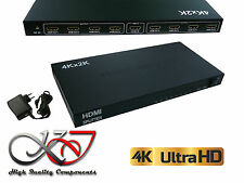 Splitter HDMI 1.4b - 8 Ports - Boitier Métal - Résolution 4K (2160x3840) - 3D