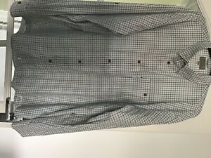 Mens Hardy fishing shirt, blue check, size XL, excellent condition, never worn