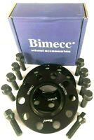 2 x15mm Black Alloy Wheel Spacers Black Wheel Bolts  BMW 1 SERIES F20 F21 Bimecc