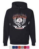 Outlaw Forever Hoodie Born to Ride MC Chopper Bobber Sweatshirt
