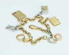 Cartier Gold Diamond Charm Bracelet