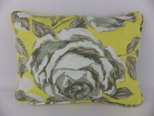 Designers Guild Rosenholm Yellow Grey Rose Floral Cushion & Pad Shabby Chic
