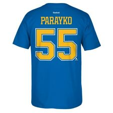 St. Louis Blues NHL Reebok Player Name & Number Premier Jersey T-Shirt Men's