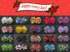 """20 BLESSING Happy Girl Boutique Hair Accessories 4"""" Peacock Bow Clip"""