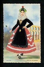 Embroidered clothing postcard Artist Iraola, Spain Segovia woman