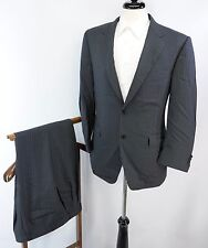 Canali Charcoal Gray Blue Pinstripe 2 Btn Dual Vent Wool Suit 50R EU 40R US