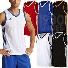 adidas Boy's Commander Basketball Jersey Sport Training Tank Vest Team Shirt Kit