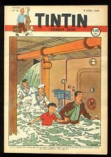 Journal de TINTIN belge  1948   n°15  Couverture de HERGE  JO ZETTE