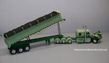 LCMB No.3 MAC 3-Axle Dump Trailer & Kenworth W900 3-Axle Semi DCP 33481 1/64