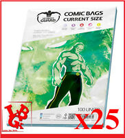 Pochettes Protection CURRENT Size comics VO x 25 Marvel Ultimate Guard # NEUF #