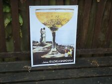 Retro Picture Plaque ( I'D LOVE A BABYCHAM ) Vintage Metal Sign Drink /Nice Gift