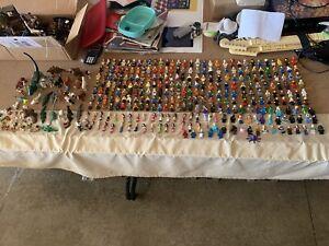 292 Lego Mini figures Lot Some Licensed Most General Lego Figures Plus Animals
