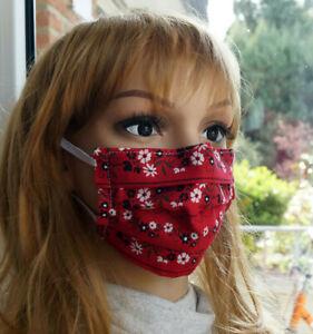 Behelfs- Mundschutz ❤️ Maske Stoffmaske Atemmaske Gesichtsmaske Handarbeit
