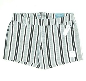 """Old Navy Pixie Women's Size 10 Shorts Black Striped Shorts 3.5"""" Inseam NWT $25"""
