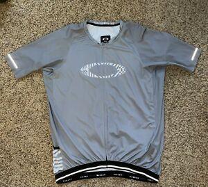 EUC Oakley Core Fit  Cycling Jersey Black Gray 2XL