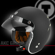 Bull Head Open Face Retro Vintage Style Motorcycle Scooter 3/4 Helmet XX-Large