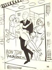 Mannequin Wedding Gag - 1966 art by Michael Berry