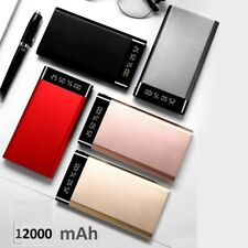 Ultra Thin 12000mAh Dual USB External Battery Charger Power Bank For Mobile